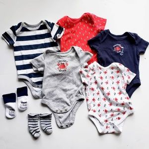 Other - 5 Piece Nautica Crabby Onsies Plus Socks